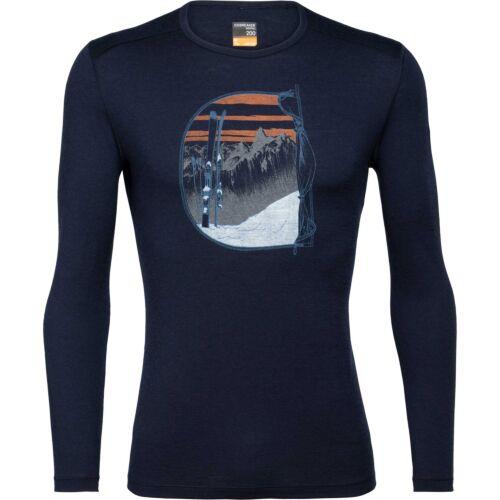 Icebreaker Mens 200 Oasis LS Crewe Mont Blanc Rise